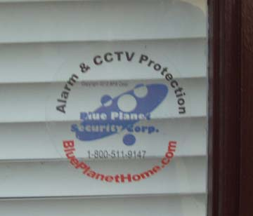 Home Security Decal